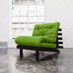 Poltrona Letto Futon ROOTS Karup in legno wenge colore Lime
