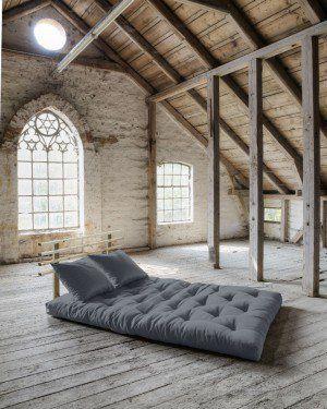 Divano letto futon shin sano karup in legno naturale lettogiapponese com - Letto in legno naturale ...