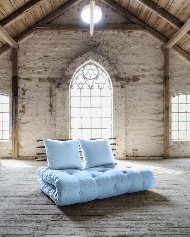 Divano letto futon shin sano karup in legno nero - Divano letto bambini ...