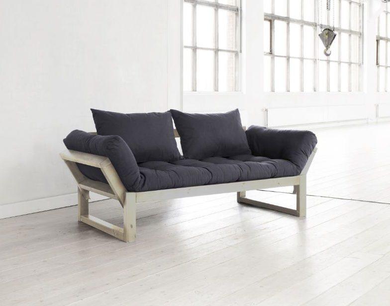 Divano letto futon edge karup in legno naturale - Divano che diventa letto a castello ...