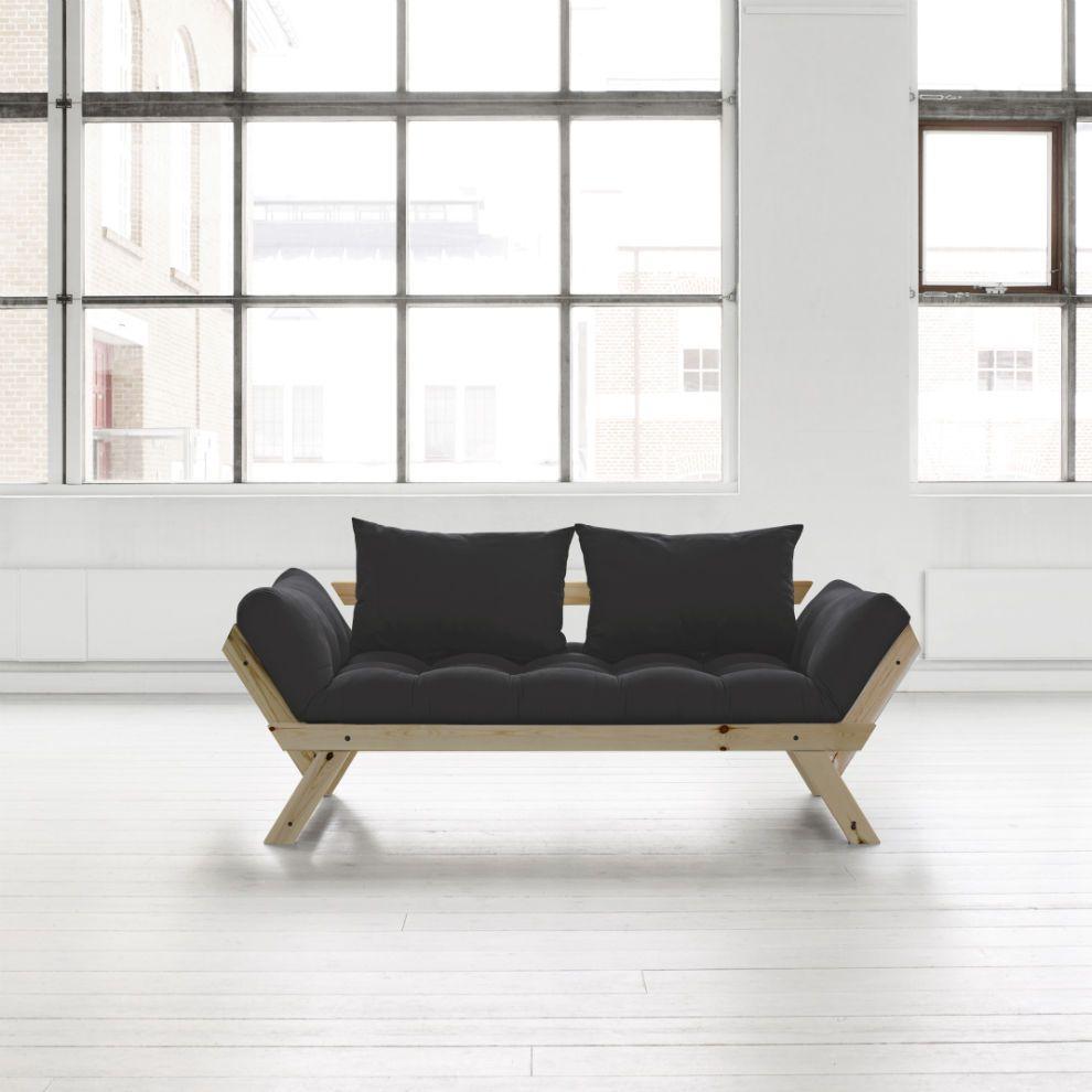 Divano letto futon bebop karup in legno naturale   lettogiapponese.com
