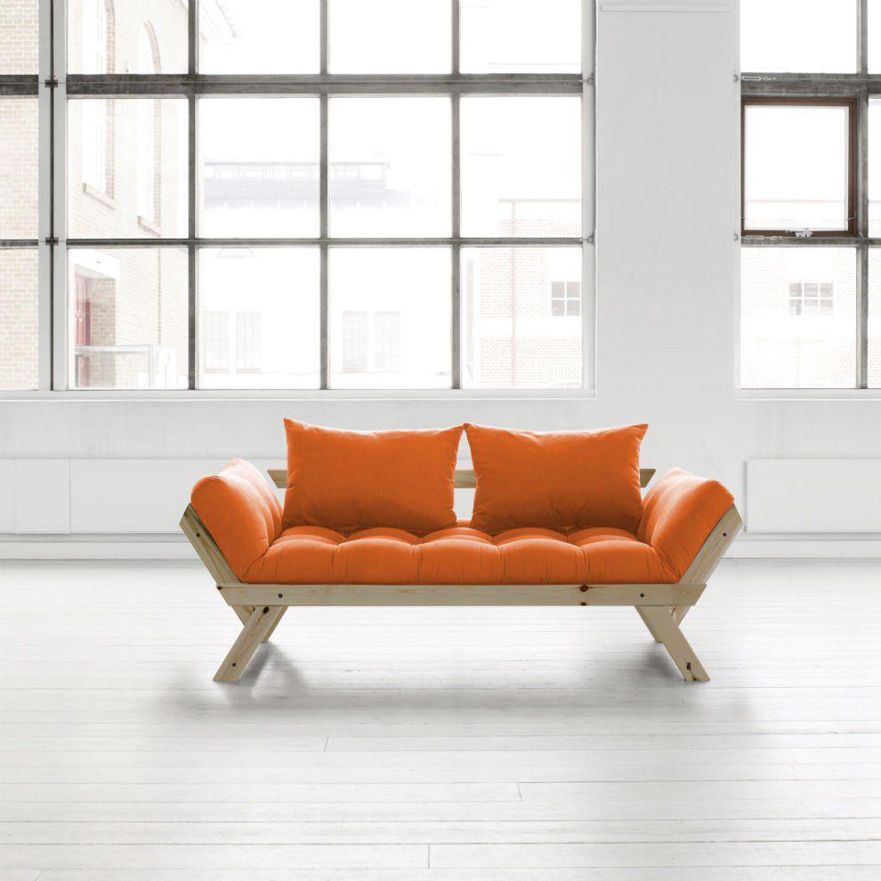 Divano letto futon bebop karup in legno naturale - Divano letto legno ...