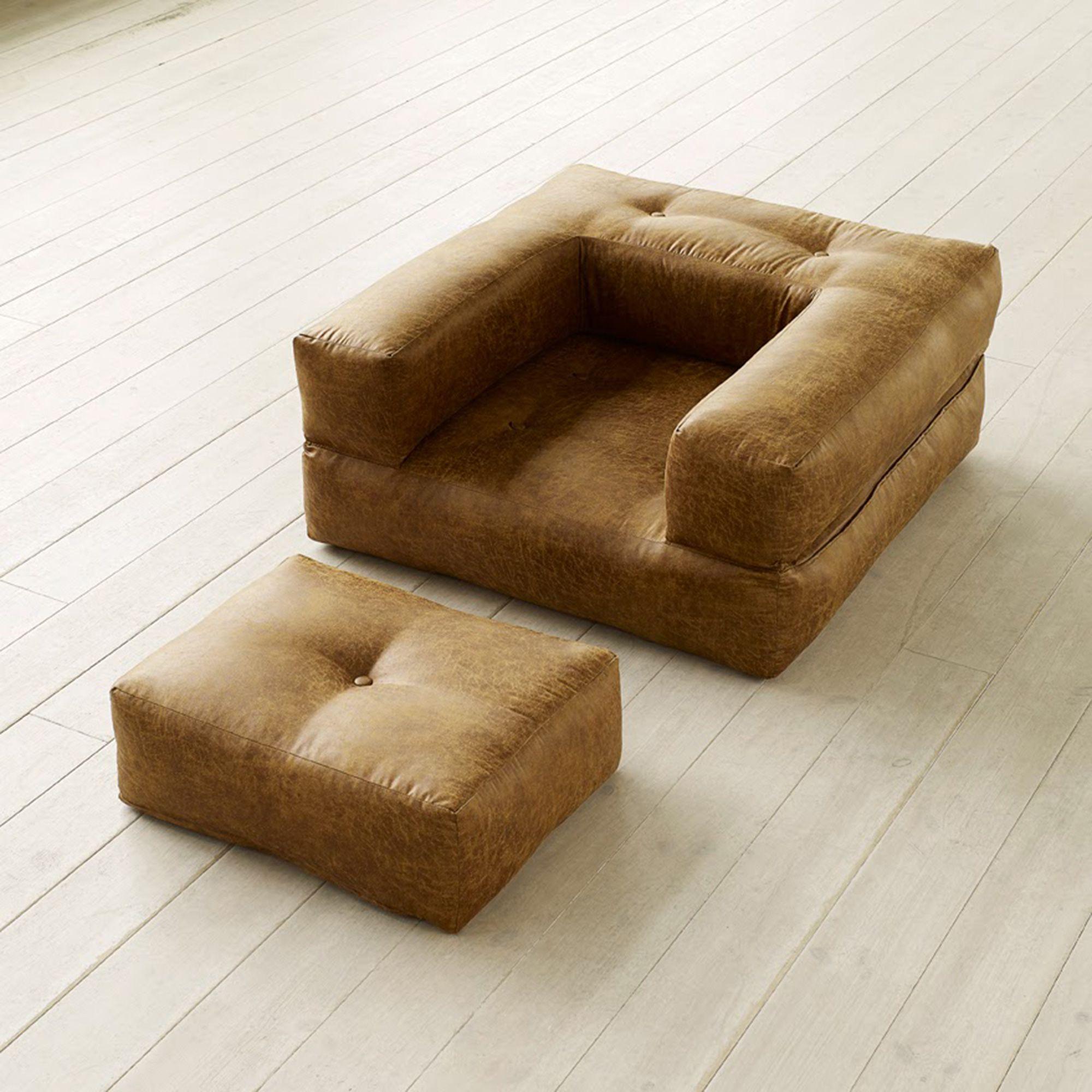 Poltrona letto futon cube chair vintage karup for Poltrona letto futon