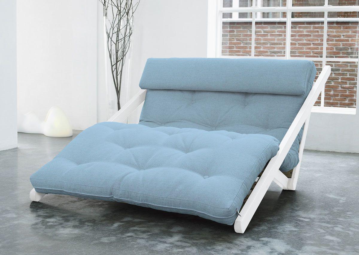Divano letto futon figo karup in legno bianco lettogiapponese com - Letto in legno bianco ...