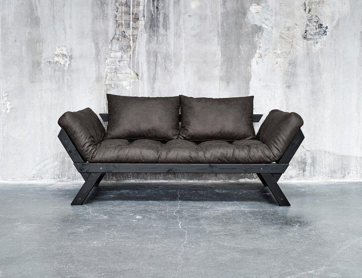 Divano letto futon bebop vintage collection karup in legno nero lettogiapponese com - Divano letto retro ...