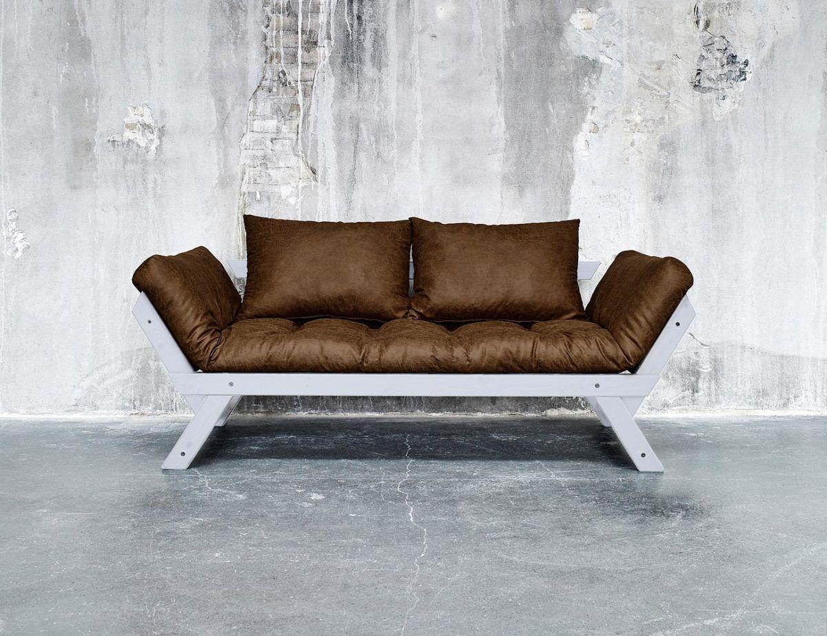 Divano letto futon bebop vintage collection karup in legno cool gray lettogiapponese com - Divano letto retro ...