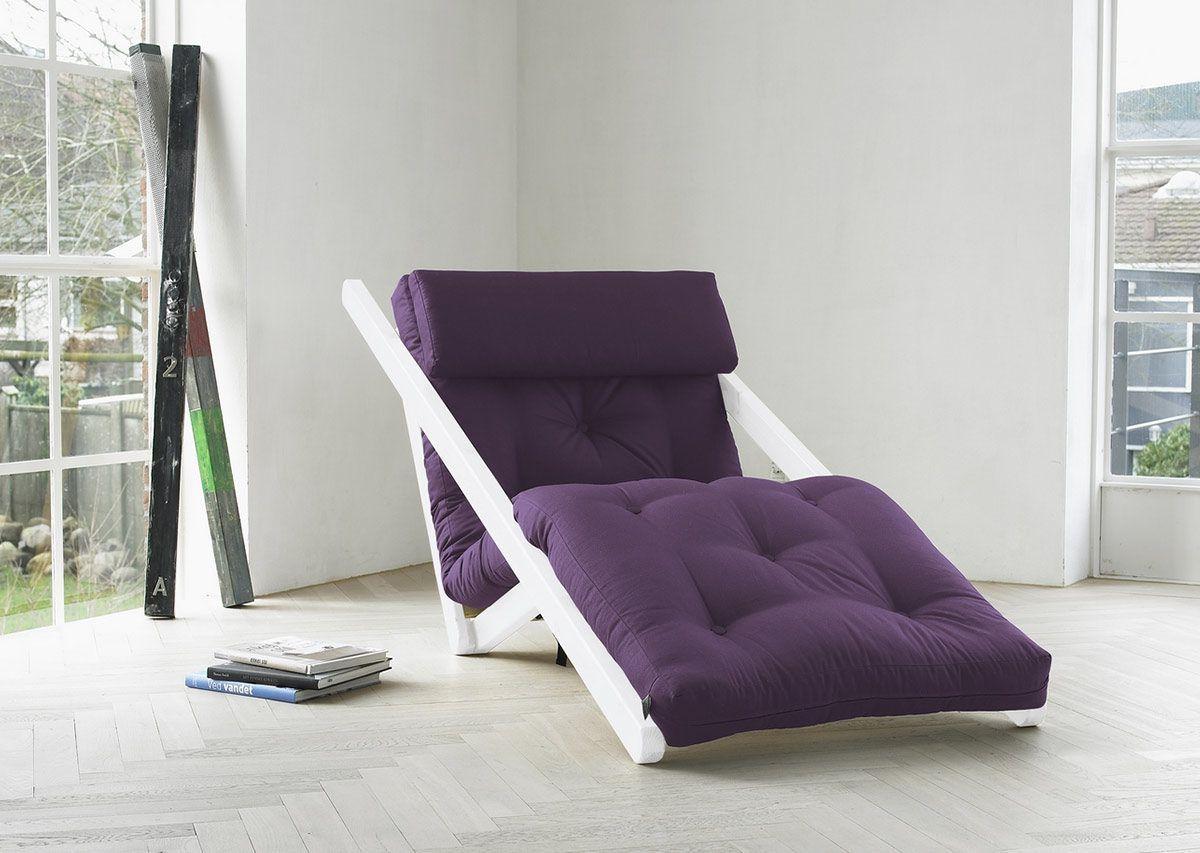 Poltrona Letto Futon : Poltrona futon figo karup in legno bianco lettogiapponese